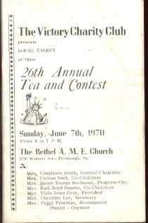 Victory Charity Club 26th Tea & Contest 1970
