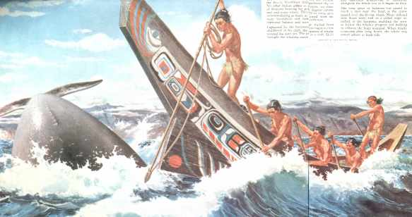 crowntiques.com: Pacific NW Indians Drama of the Sea Art Print