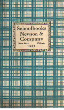 1937 Newson & Co Schoolbooks Catalog