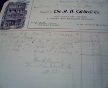 A.B. Caldwell Company Bill Head from 6/2/05