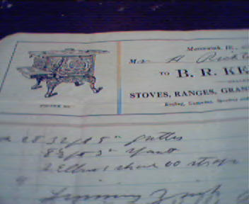 B.R. Keller Stove Range and Tinware BillHead