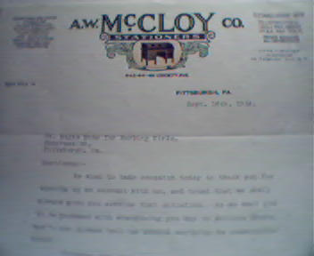 A.W. McCloy Company! Color Ill. of Desk!