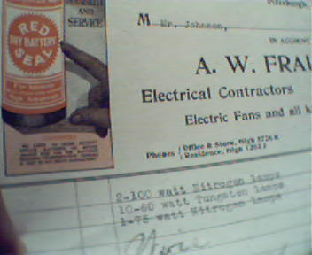 A.W. Fraley Co. With Ill. of Battery at Top