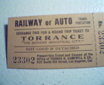 Exchange for Round Trip Ticket to Torrance