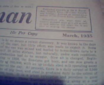 American Freeman 3/35 CBS Message from Hitler?!