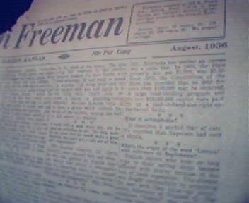 American Freeman-8/36 Walt Whitman,St.Peters,Aelurophob