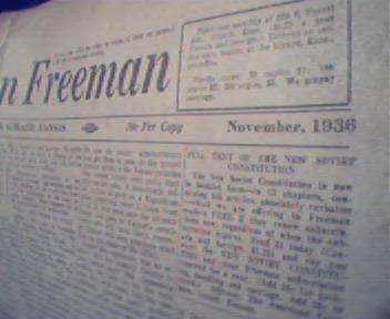 American Freeman- 11/36 A.F.Landon,Panama Canal!