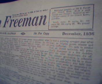 American Freeman-12/36 Leo Blum,Eskimos,Weather!