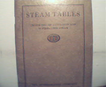 Steam Tables by Superheater Co., c1931