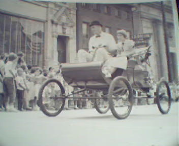 Real Photo of a Vintage Car in Parade, Wash.PA 1940s