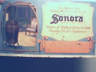 Sonora Talking Machine Blotter Card c1920s!