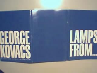 George Kovacs Lamps Showroom Literature! 1960s!