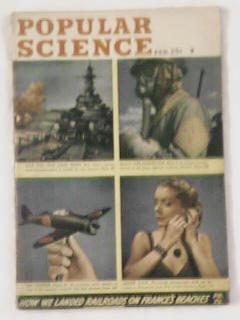 FEB1945 POPULAR SCIENCE GREAT WAR COVER