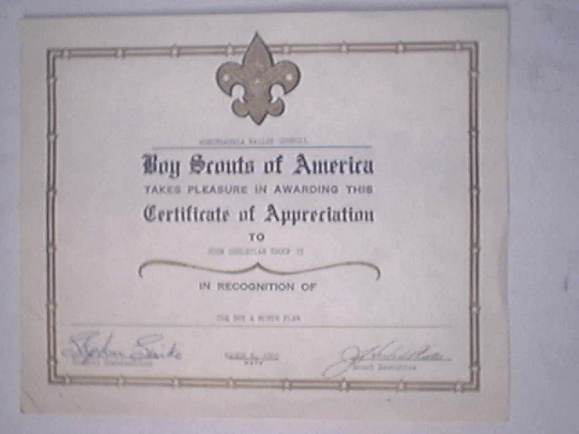 Crowntiques 1970 boy scouts of america certificate of appreciation 1970 boy scouts of america certificate of appreciation click to enlarge yelopaper Choice Image