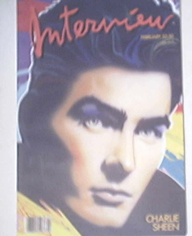 Andy Warhol's Interview 2/1987 CHARLIE SHEEN cover