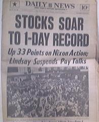Daily News 8/17/1971 STOCKS SOAR  1-DAY RECORD