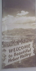 1950's Welcome to Beautiful Herber Valley Visitor Broch