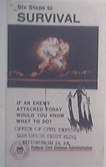 1955 Six Steps to Survival from an Attack  COLD WAR
