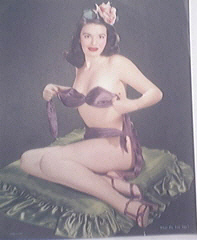Vintage color print What Do You Say? Beautiful Pin-Up