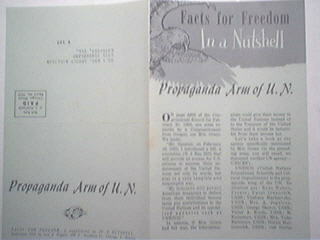 Propaganda Arm of U.N. Facts For Freedom 1960's Mailing