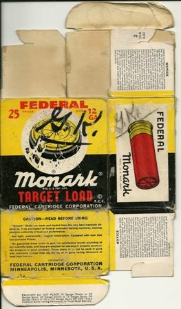 Federal Cartridge Shotgun Shell Box circa 1960's