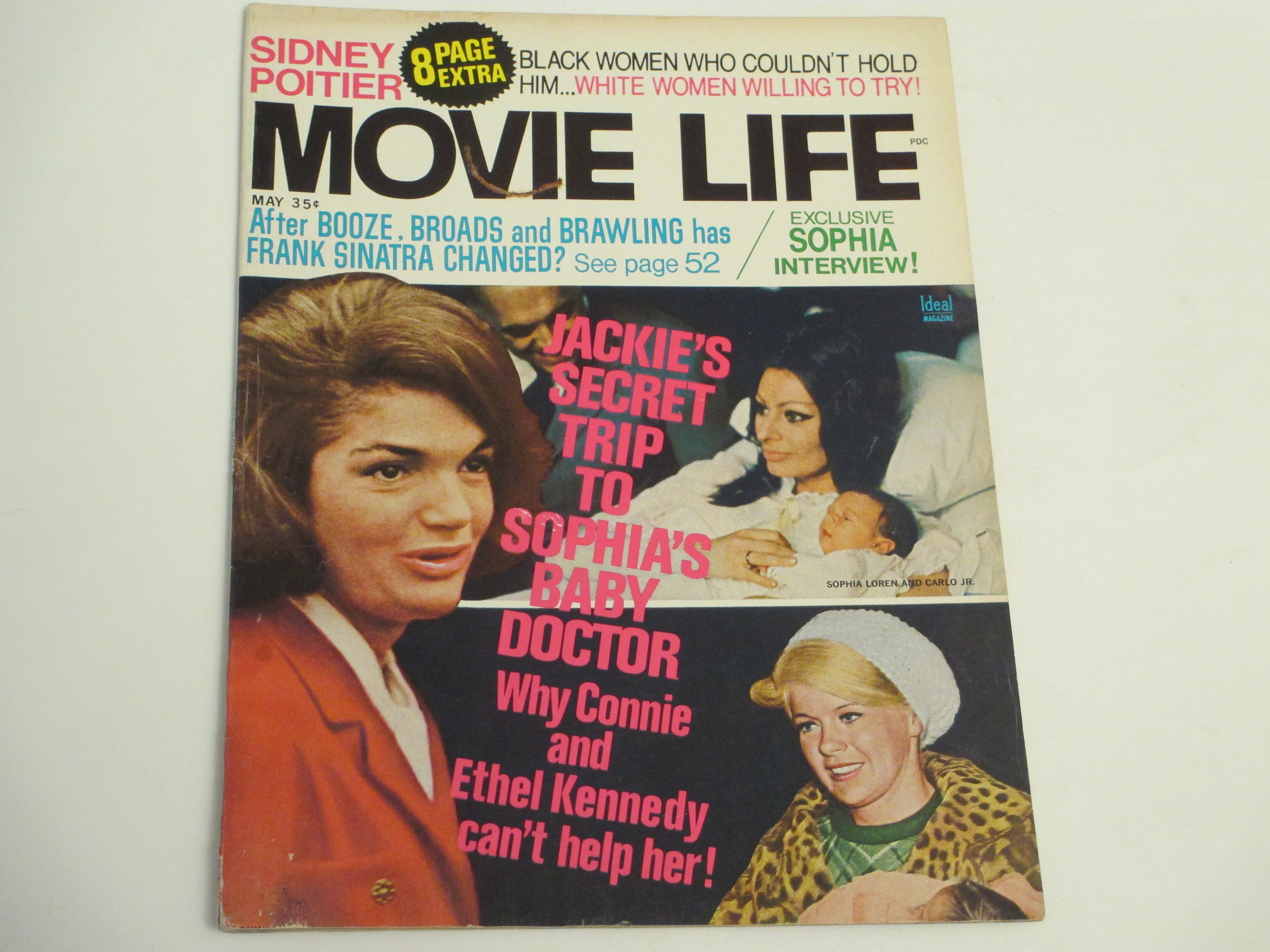 crowntiques com: Movie Life Magazine- 5/1969-Jackie Kennedy Cover