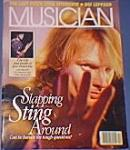 """Musician"" Sting on Cover Dec. 1987"
